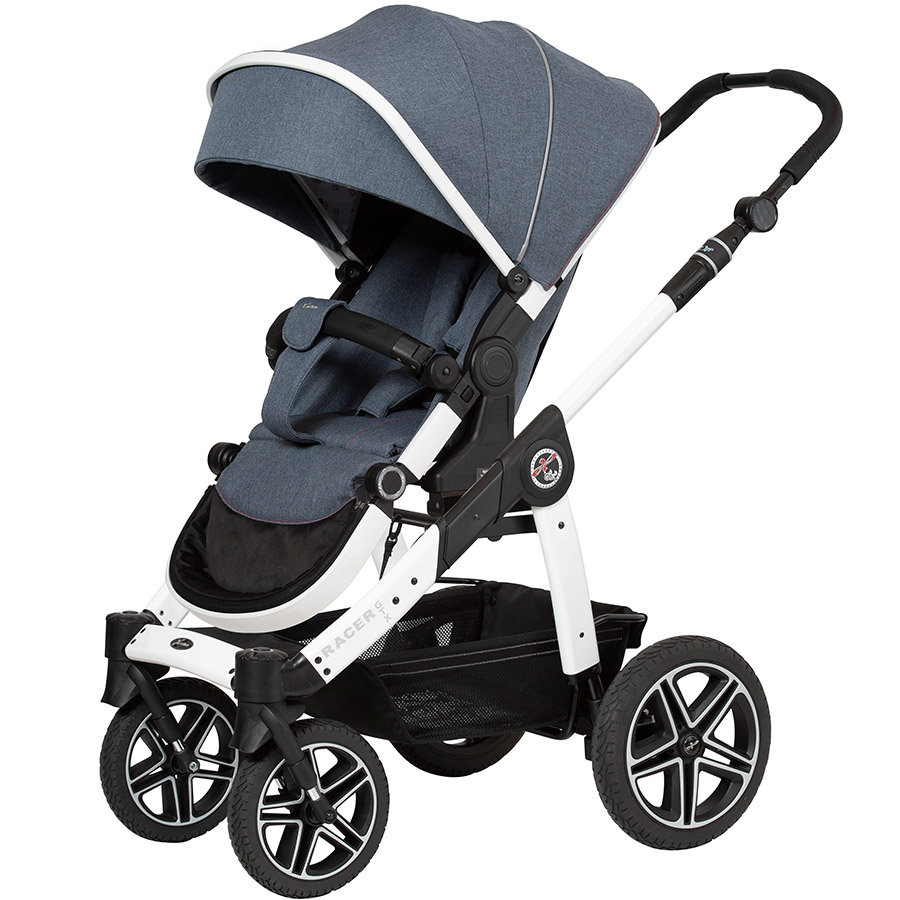 Hartan Kinderwagen Racer GTX lovely denim (405) Framekleur wit