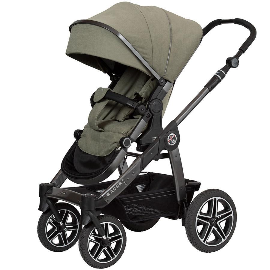 Hartan Carro de bebé Racer GTX con freno de mano olive stars (401) Chasis color platino