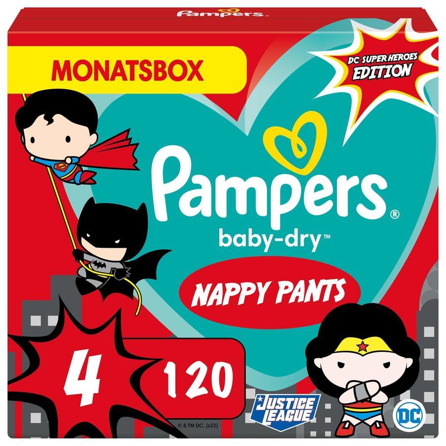 Pampers Baby-Dry Pants Warner Brothers, maat 4, 9-15kg, maandbox (1 x 120 inlegluiers)