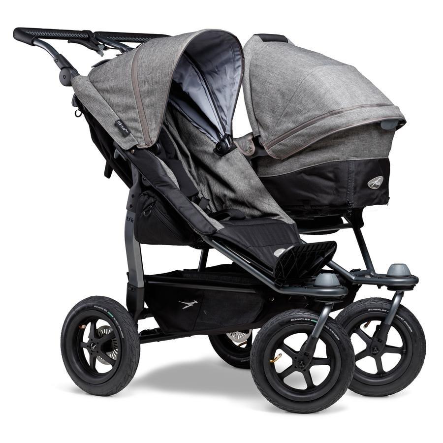 tfk Silla de paseo gemelar Duo Air Premium Grey
