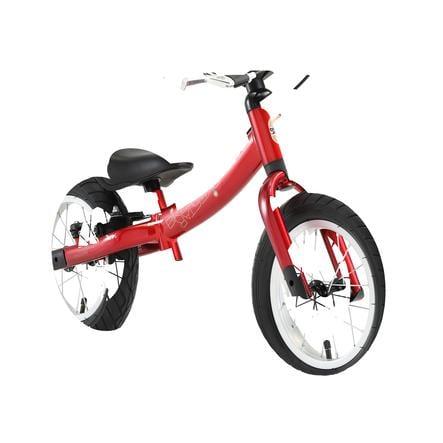 """bikestar Mitwachsendes Kinderlaufrad 12"""" Classic Herzschlag Rot"""
