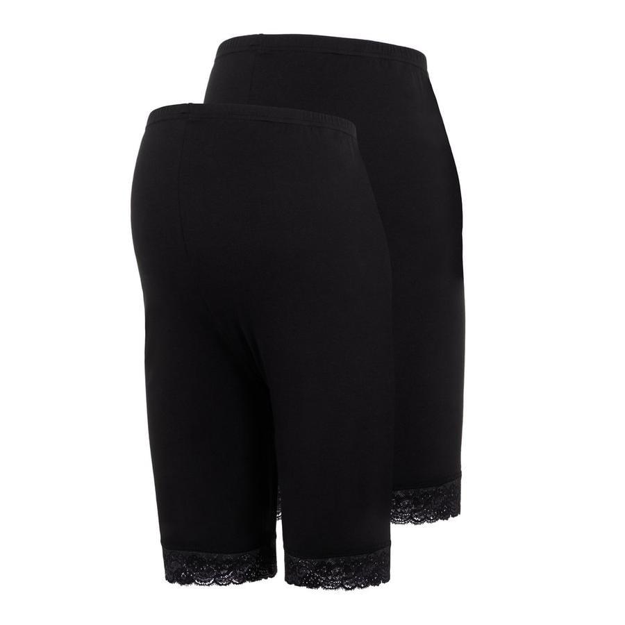 mama;licious Zwangerschap shorts MLLENNA 2-pack Black