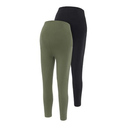 mama;licious leggings de maternité MLLEA 2-pack Black /Thyme