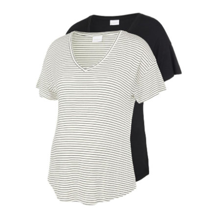 mama licious Maternity skjorte MLALISON 2-pakning Svart