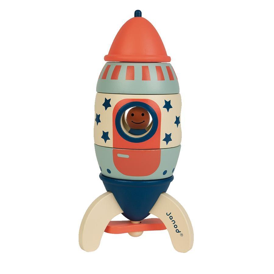 """Janod® Magnetischer Bausatz """"Rakete My Design"""""""