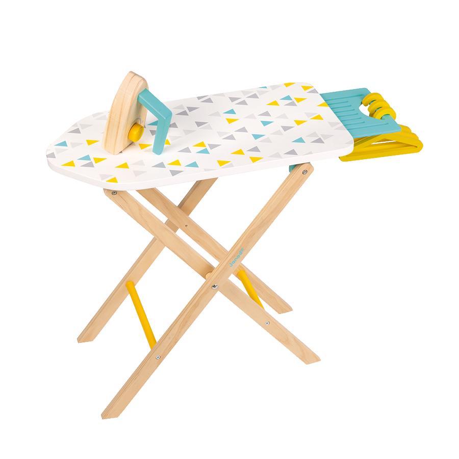 Janod ® Strijkplank met strijkijzer hout (incl. 3 hangers)