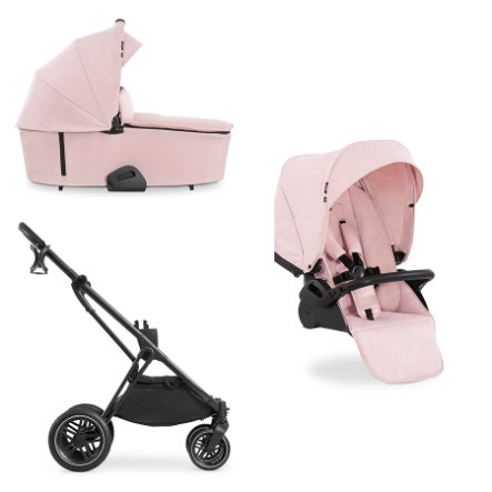 hauck Combi Stroller 3in1 Vision X Musta / Melange Ruusu