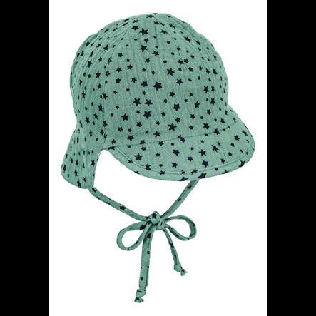 Sterntaler Käännettävä huipullinen hattu kaulan suojalla tummanvihreä