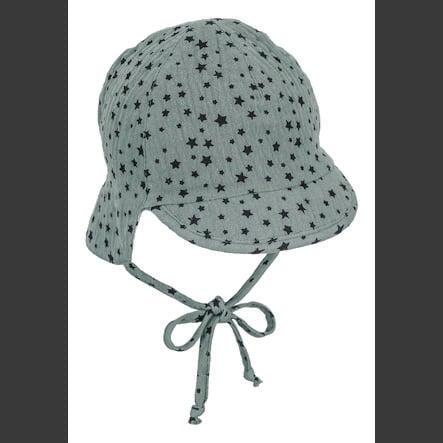 Sterntaler Wende-Schirmmütze mit Nackenschutz dunkelgrün