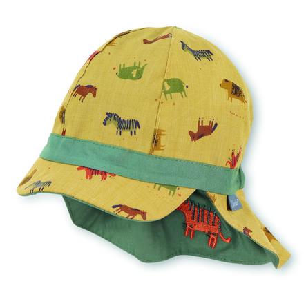 Sterntaler Gorra de pico reversible con protección de cuello amarilla