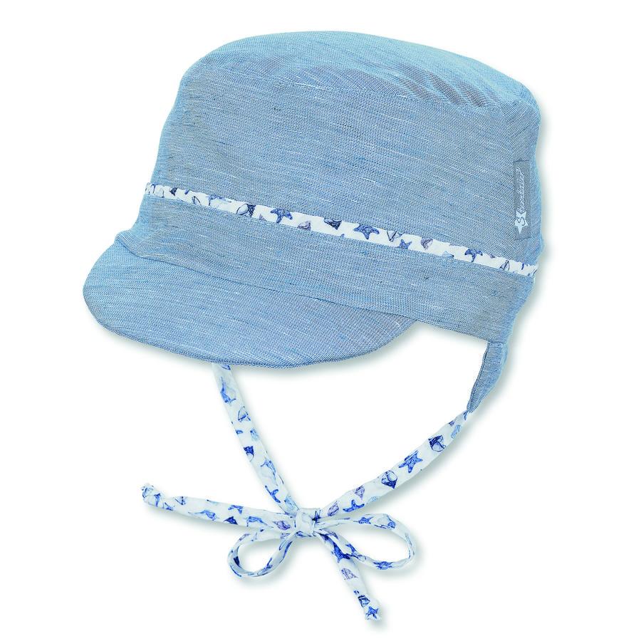Sterntaler Gorra de pico azul claro