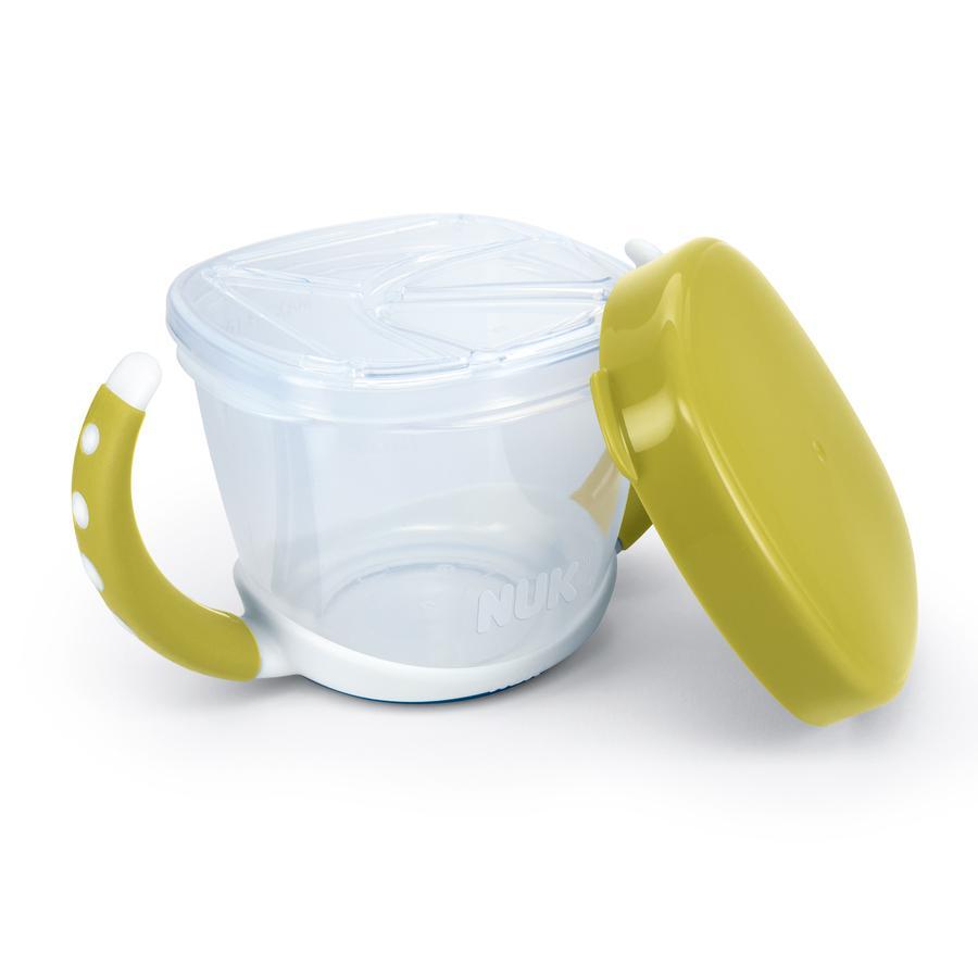 NUK Pojemnik na przekąski Snack Box z przykrywką kolor pistacjowy