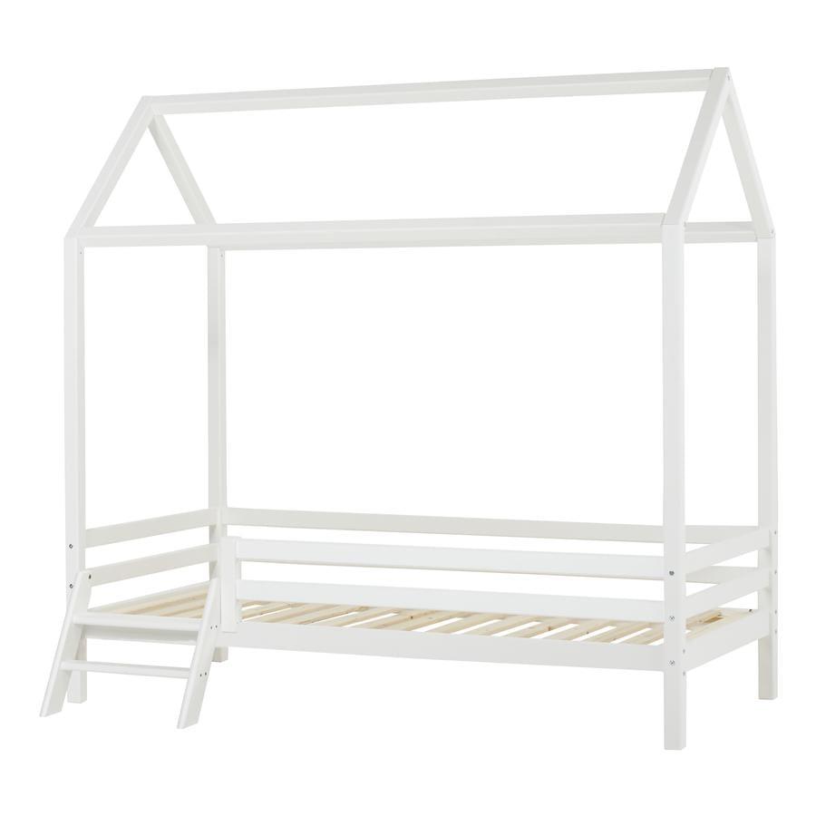 Hoppekids Hausbett Basic weiß 90 x 200 cm mit Leiter