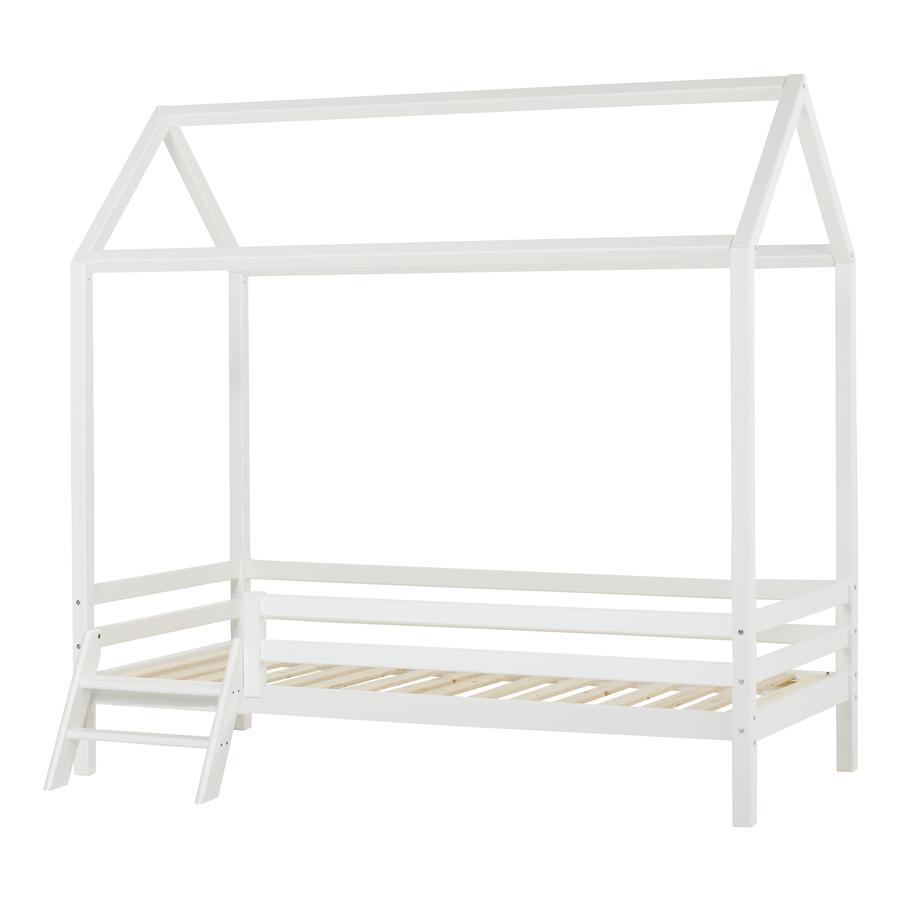 Hoppekids Lit cabane enfant Basic blanc, échelle 90x200 cm