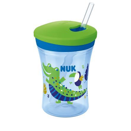 NUK Trinklernbecher Action Cup, Color Change, grün