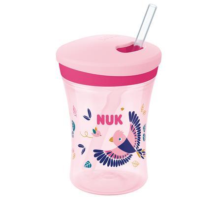 NUK Trinklernbecher Action Cup, Color Change, rosa
