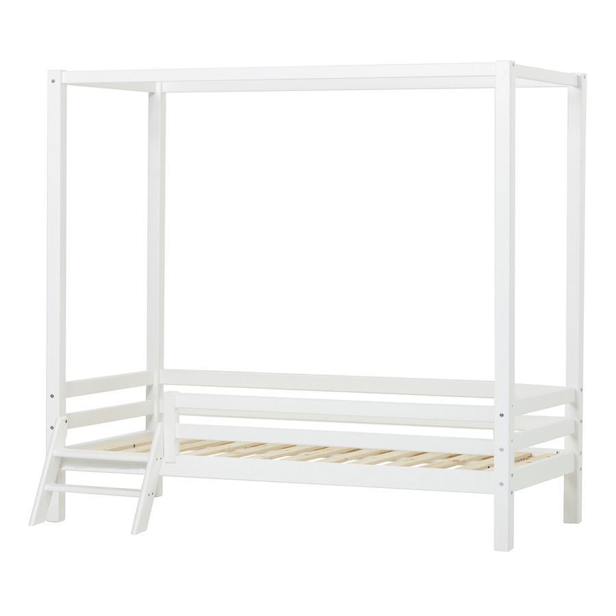 Hoppekids Himmelbett Basic weiß 90 x 200 cm mit Leiter