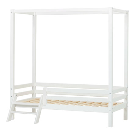 Hoppekids Lit baldaquin enfant Basic blanc, échelle 70x160 cm