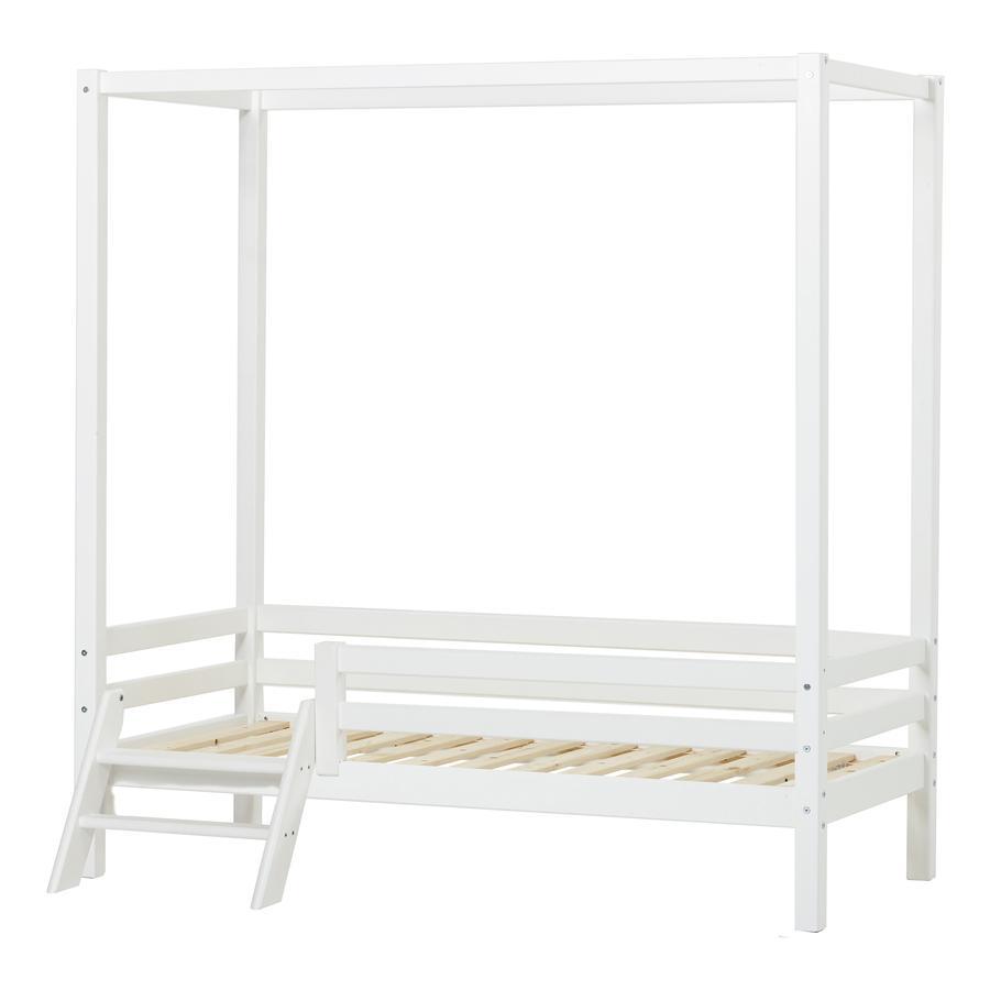 Hoppekids Himmelbett Basic weiß 70 x 160 cm mit Leiter