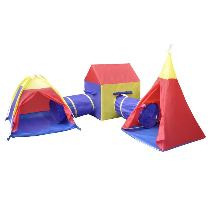 knorr® toys Tunnel de jeu enfant tentes De Luxe City multicolore