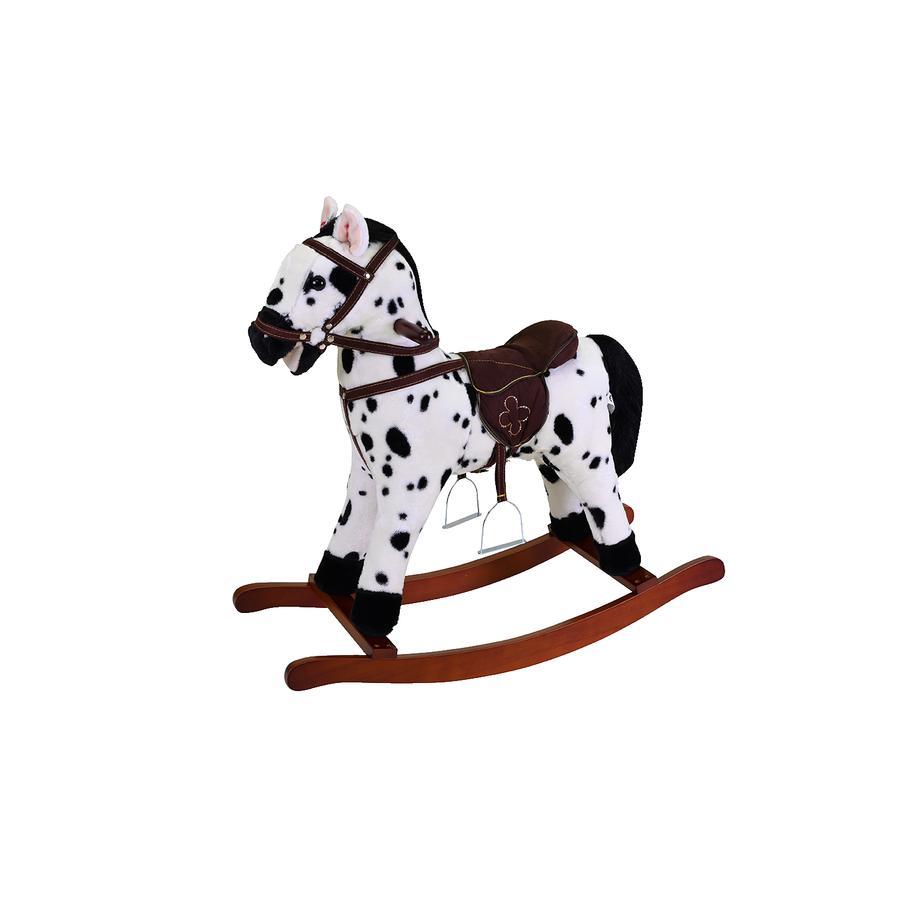 knorr® toys Schaukelpferd Appaloosa schwarz/weiß