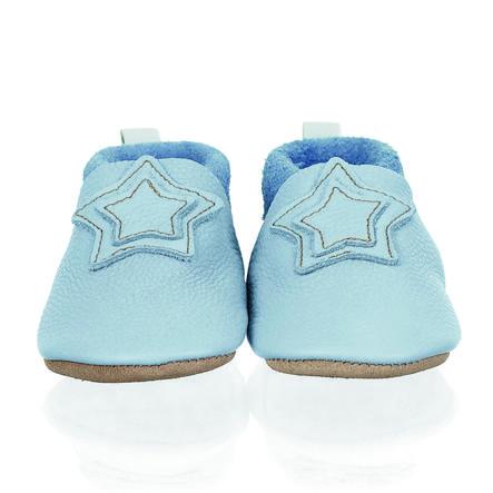 Sterntaler Baby-Krabbelschuh Leder hellblau