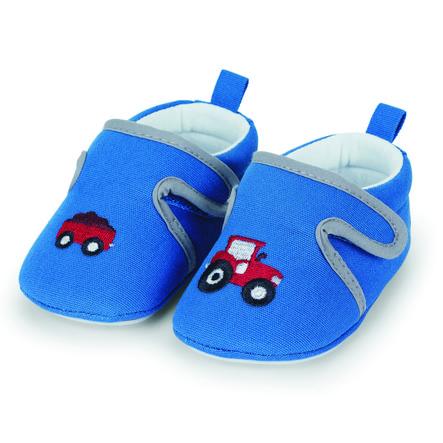 Sterntaler krypesko baby koboltblå