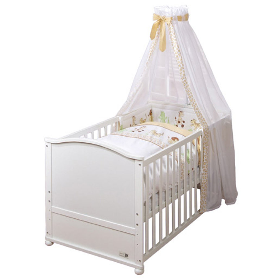 ROBA Ensemble lit bébé combinable Safari, blanc