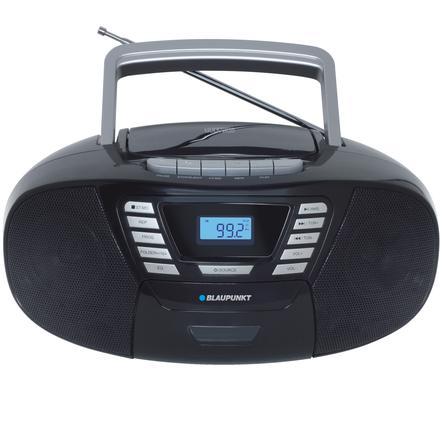 BLAUPUNKT Boombox mit CD + Kassette + USB + Bluetooth 4.2, schwarz