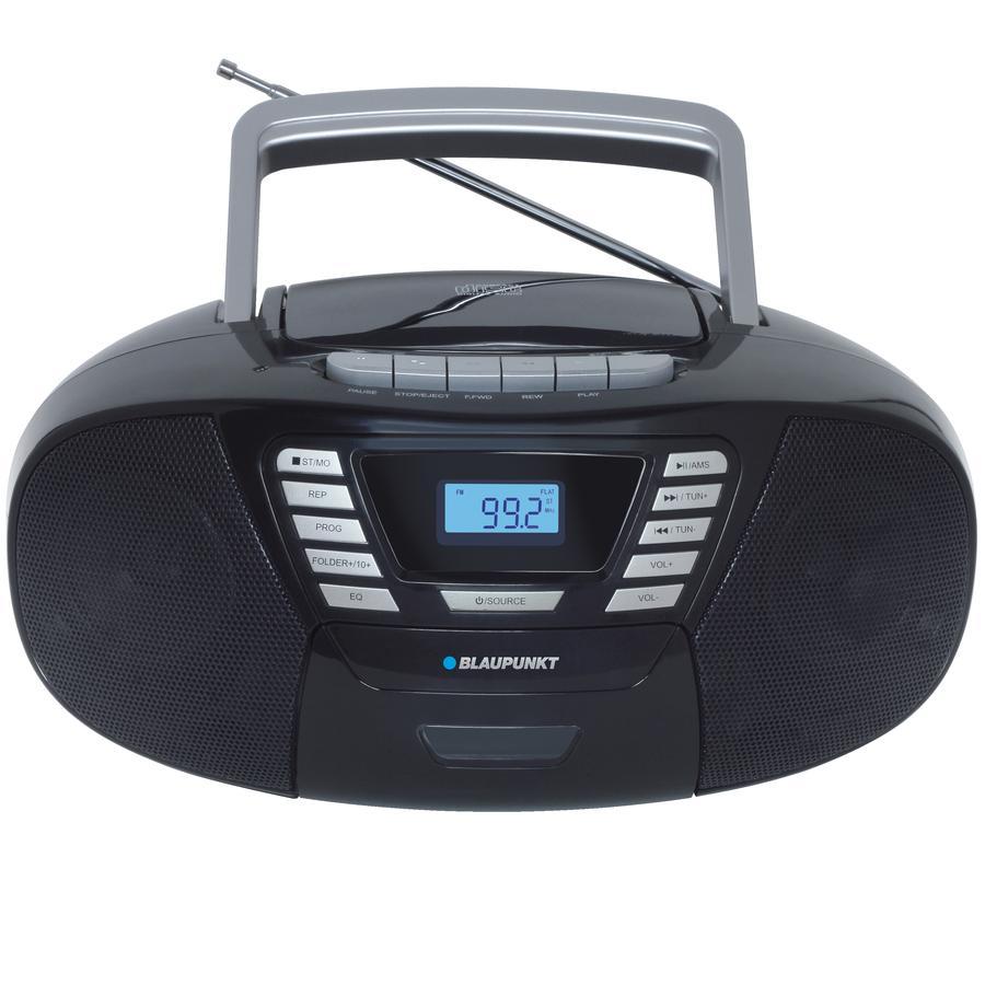 BLAUPUNKT  Boombox s CD + kazetou + USB + Bluetooth 4.2, černý