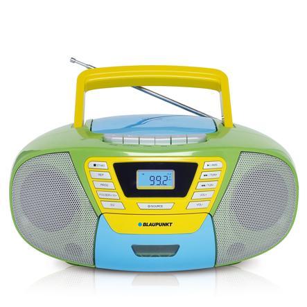 BLAUPUNKT Boombox kasettiasemalla, USB, CD ja Bluetooth, värikäs