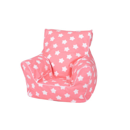 knorr® speelgoed Kids Zitzak Roze white stars