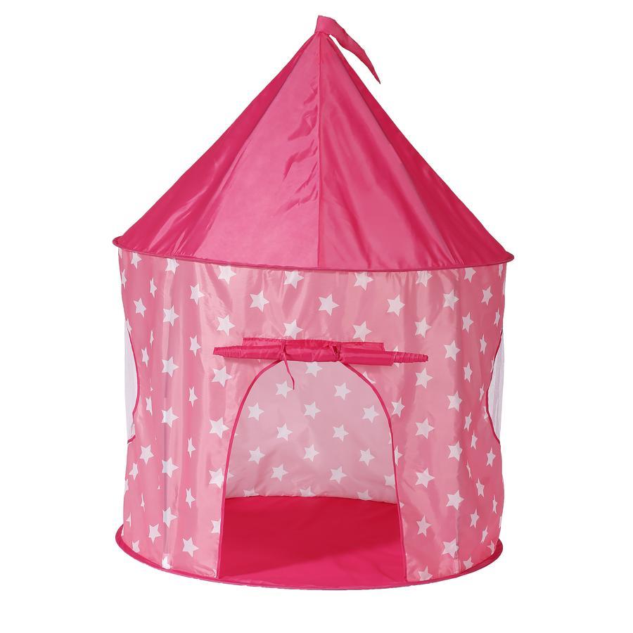 knorr® legetøj legetelt pink white stars