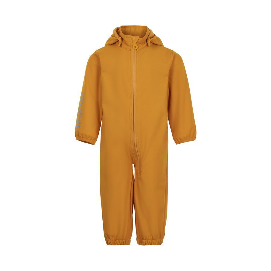 Minymo Combinaison de pluie enfant softshell golden orange