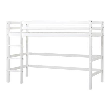 Hoppekids Lit mezzanine enfant Basic moyenne hauteur blanc 90x200 cm