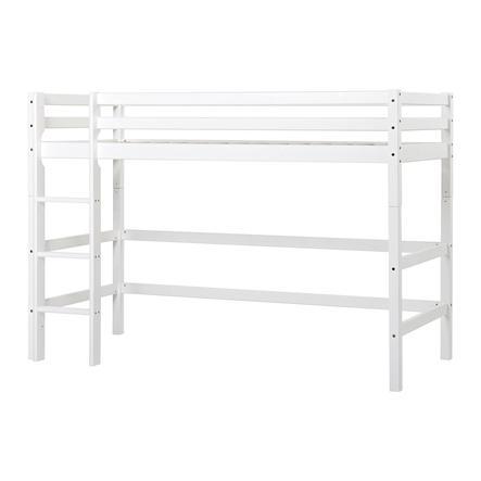 Hoppekids Mittelhochbett Basic weiß 90 x 200 cm