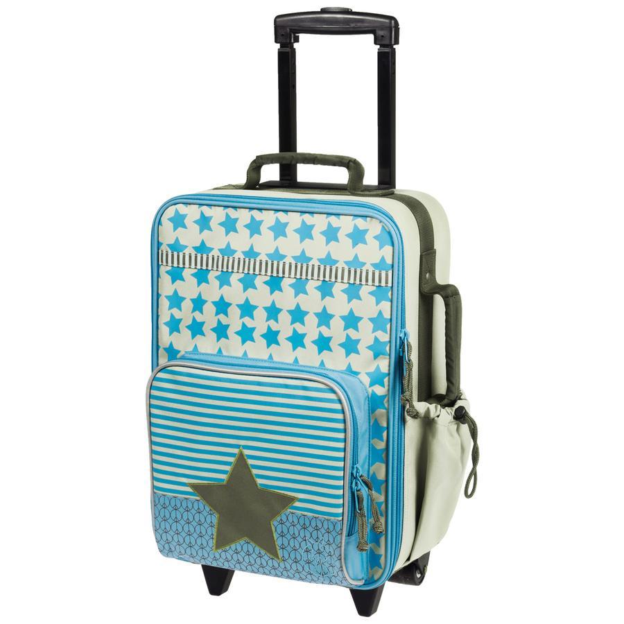 LÄSSIG Dziecięca walizka Starlight Oliv