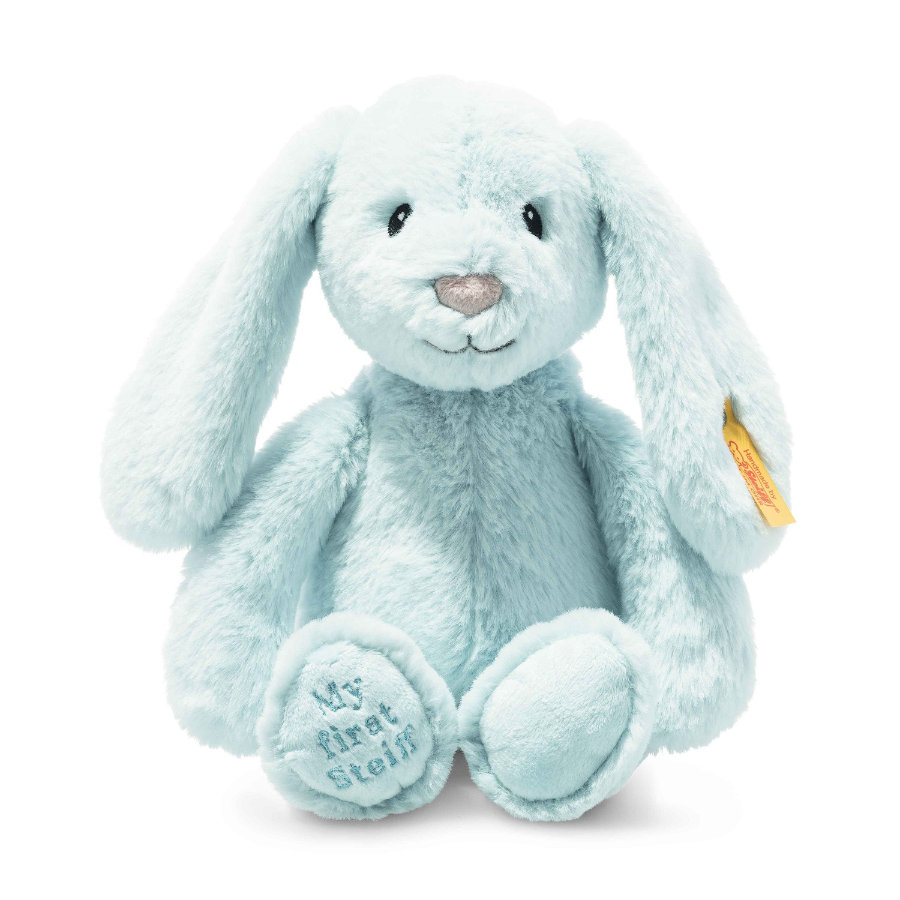 Steiff Soft Cuddly Friends My first Steiff Lapin Hoppie, bleu clair