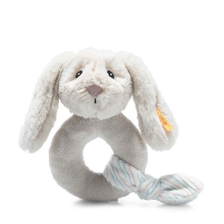 Steiff Soft Cuddly Friends Jouet de préhension lapin Hoppie avec hochet, gris clair