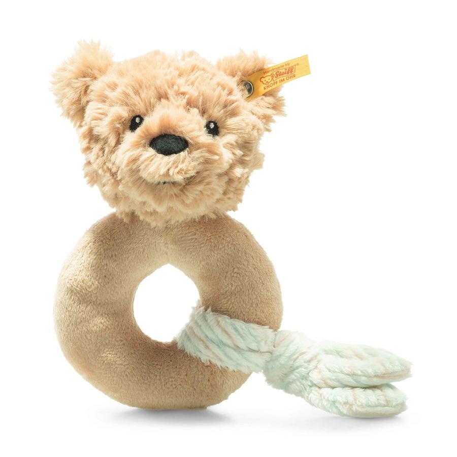 Steiff Soft Cuddly Friends Jimmy ours en peluche à saisir avec hochet, beige