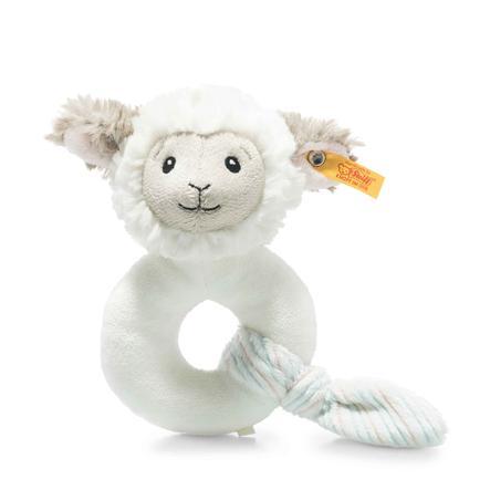 Steiff Soft Cuddly Friends Jouet de préhension agneau Lita avec hochet, crème