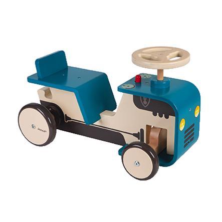 """Janod ® Løpebil """"Tractor"""" (skyve) tre"""