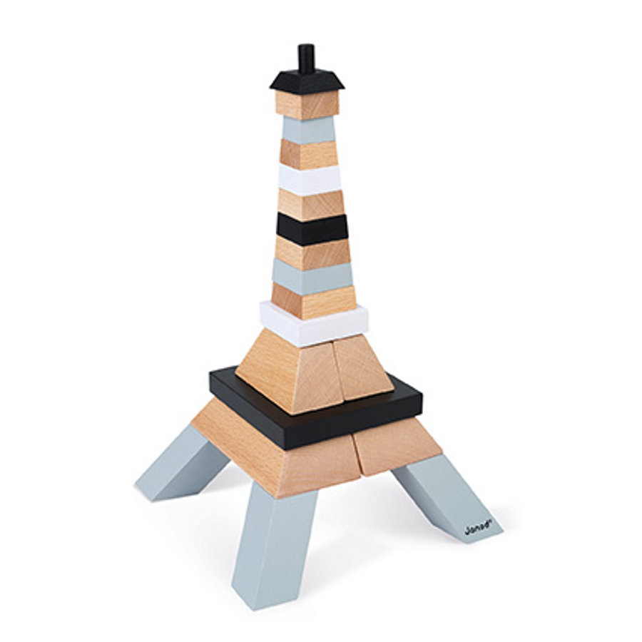 Janod ® Stavebnice Eiffelovy věže dřevo (21 dílů)