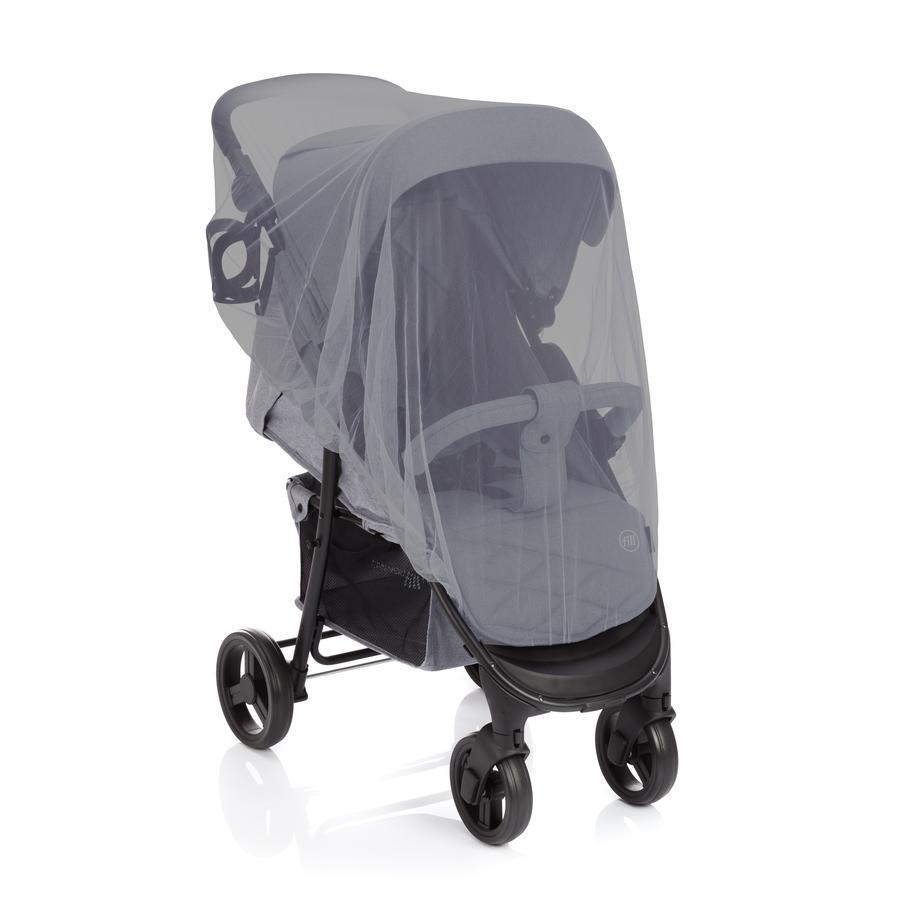 fillikid Mückennetz für Buggy, Sport-, Kinderwagen & Reisebetten grau