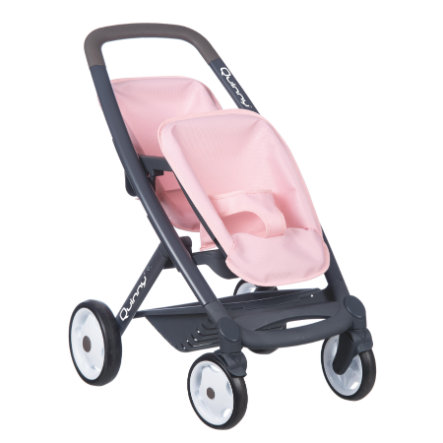 Smoby Quinny Zwillings-Sportpuppenwagen rosa/grau