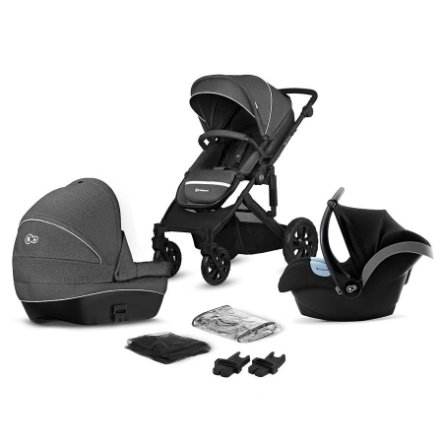 Kinderkraft Barnvagn Prime Lite 3 in 1 Black