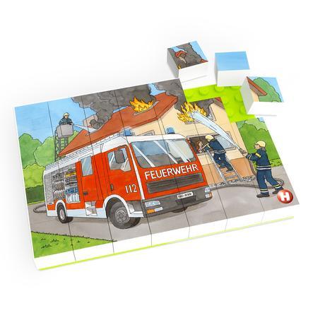 HUBELINO ® Puzzle brandvæsen operation (35 stykker)
