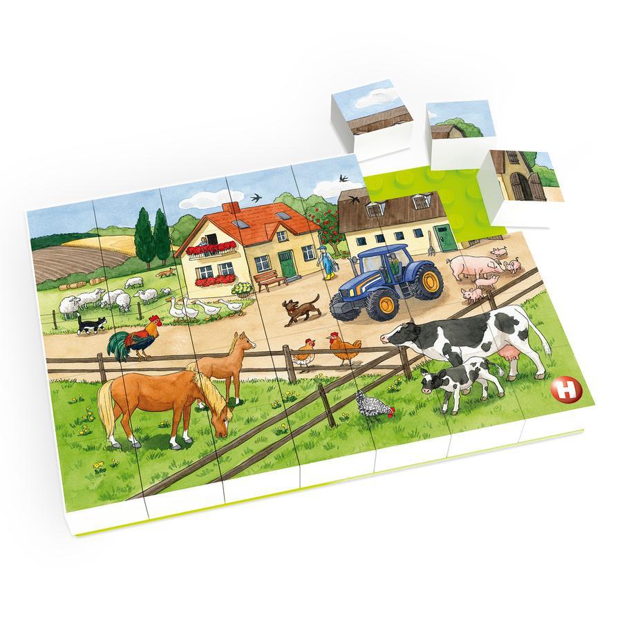 HUBELINO® Puzzle Leben auf dem Bauernhof, 35-teilig