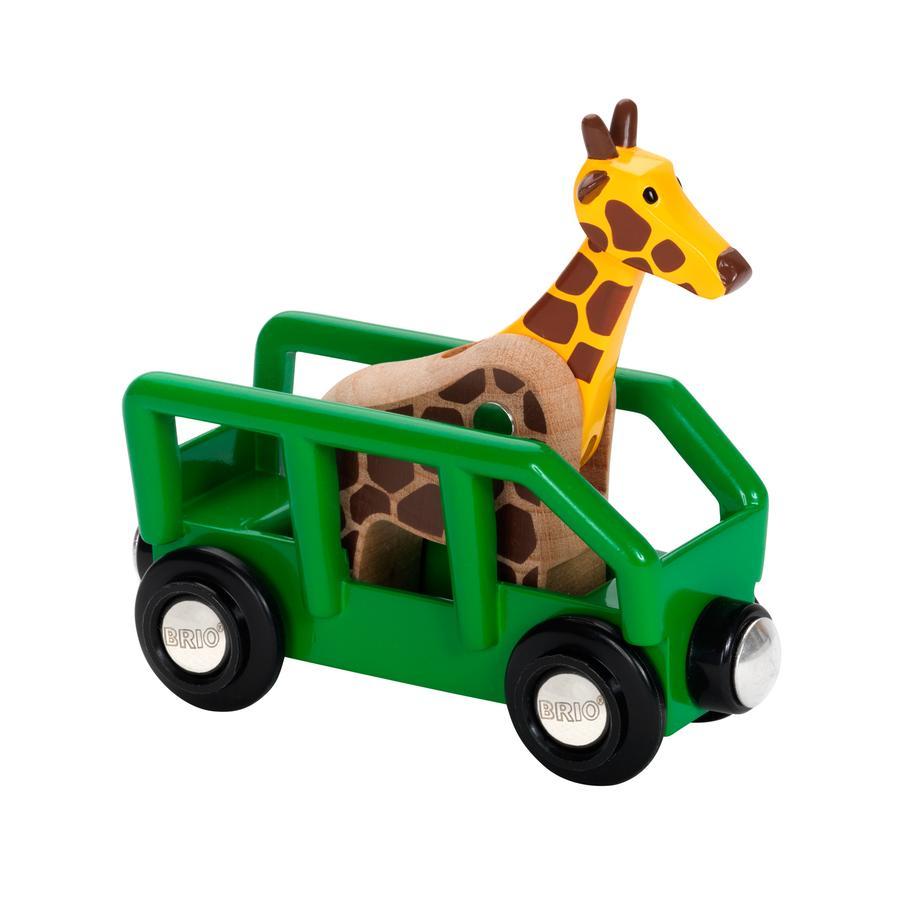 BRIO Wagon z żyrafą Safari