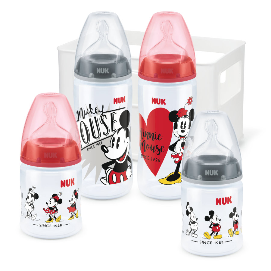 NUK Startovací sada First Choice + Disney Mickey Mouse s teplotou Control , 0 - 6 měsíců.